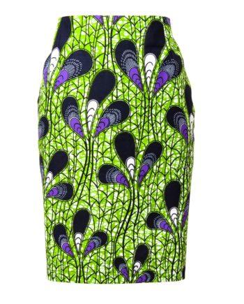 Taye-africanprints-flare-skirt-spodnice-afrykanskie-moda-w-polsce-zakupyonline-skleponline-green-straightskirt